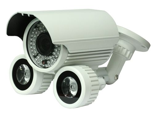 Surveillance Camera - weatherproof day-night w/ wide dynamic range, manual zoom, and long range IR