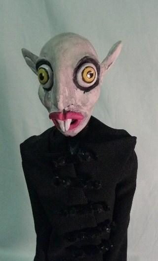 Nosferatu the Vampyre Art Doll vampire macabre undead immortal  horror Count Orlok gothic Creepy macabre blood night. via Etsy.