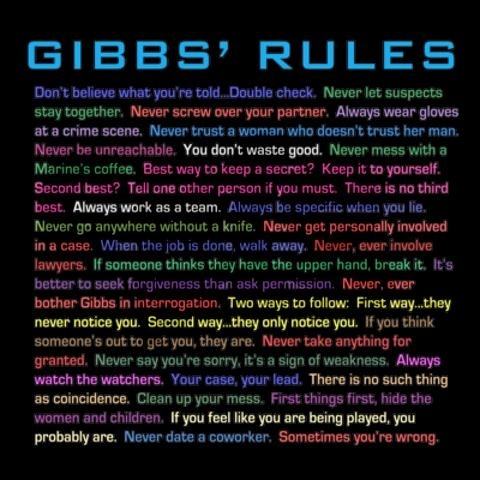 Ncis abby dating rules