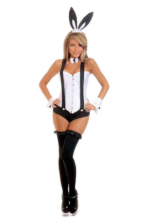 tuxedo suspenders bunny costume bunny playboy bunny. Black Bedroom Furniture Sets. Home Design Ideas