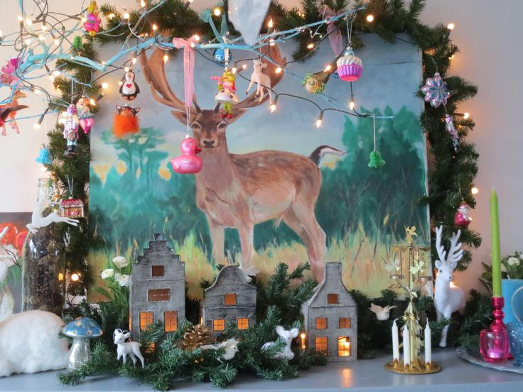 kleurrijke kerstversiering