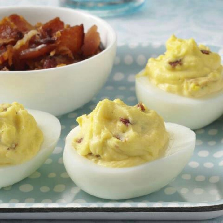Cheddar Bacon Deviled Eggs | Favorite Recipes | Pinterest