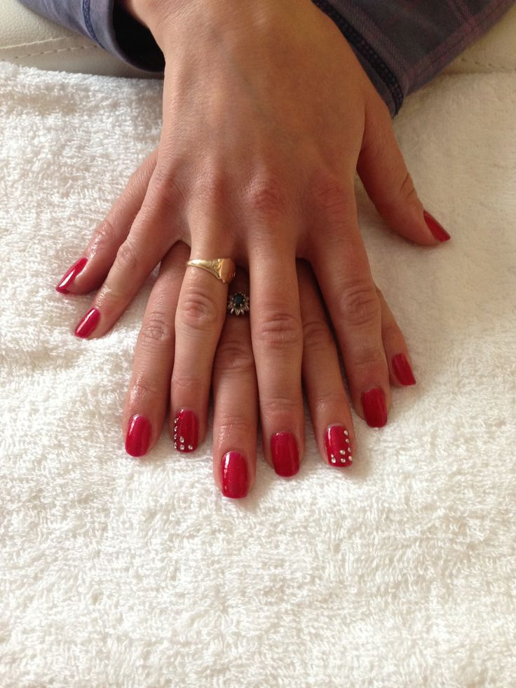 Rhinestones Gel Nails x | Pretty Polish | Pinterest