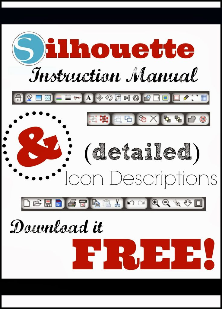 Silhouette School: Silhouette Instruction Manual & Studio Tool ...