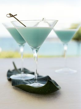 Blue Hawaiian: 80 ml-Havana Club white rum 80 ml blue curaçao 80 ml ...