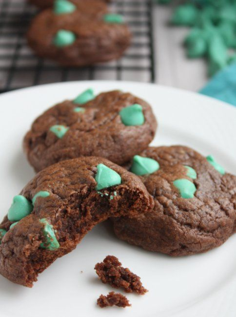 Chocolate Mint Chip Cookies-used these and mint chip ice cream to make ...