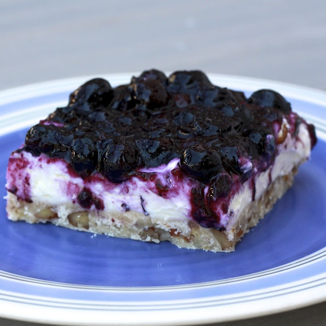 shortbread crust blueberry cream cheese pie with shortbread crust