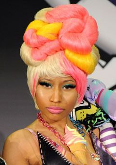 outrageous hairstyles : Hairstyle File: Nicki Minajs Most Outrageous Hairstyles
