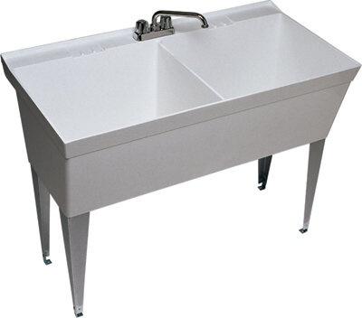 double basin slop sink Laundry room/garage entrance Pinterest