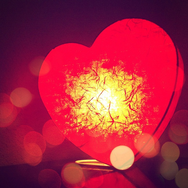valentine heart light string