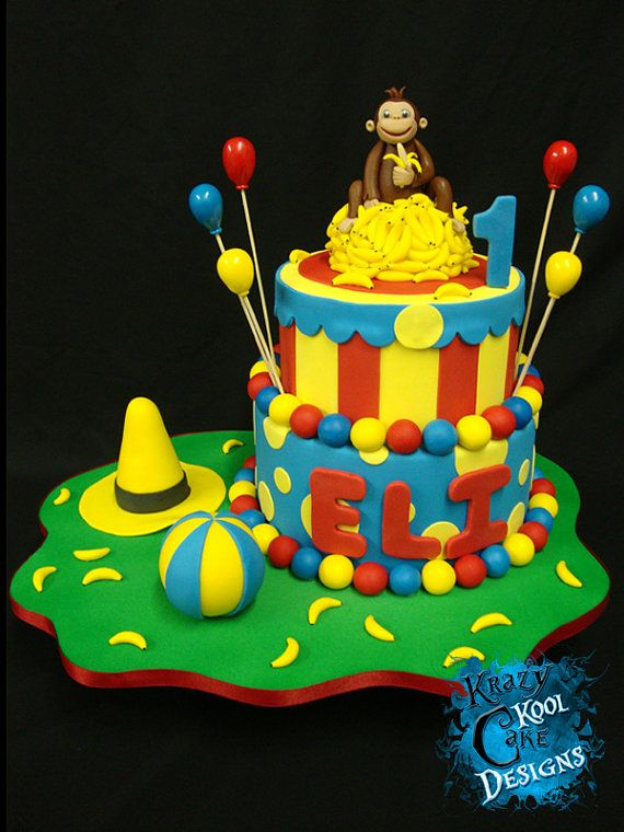Curious George Edible Cake Ideas And Designs