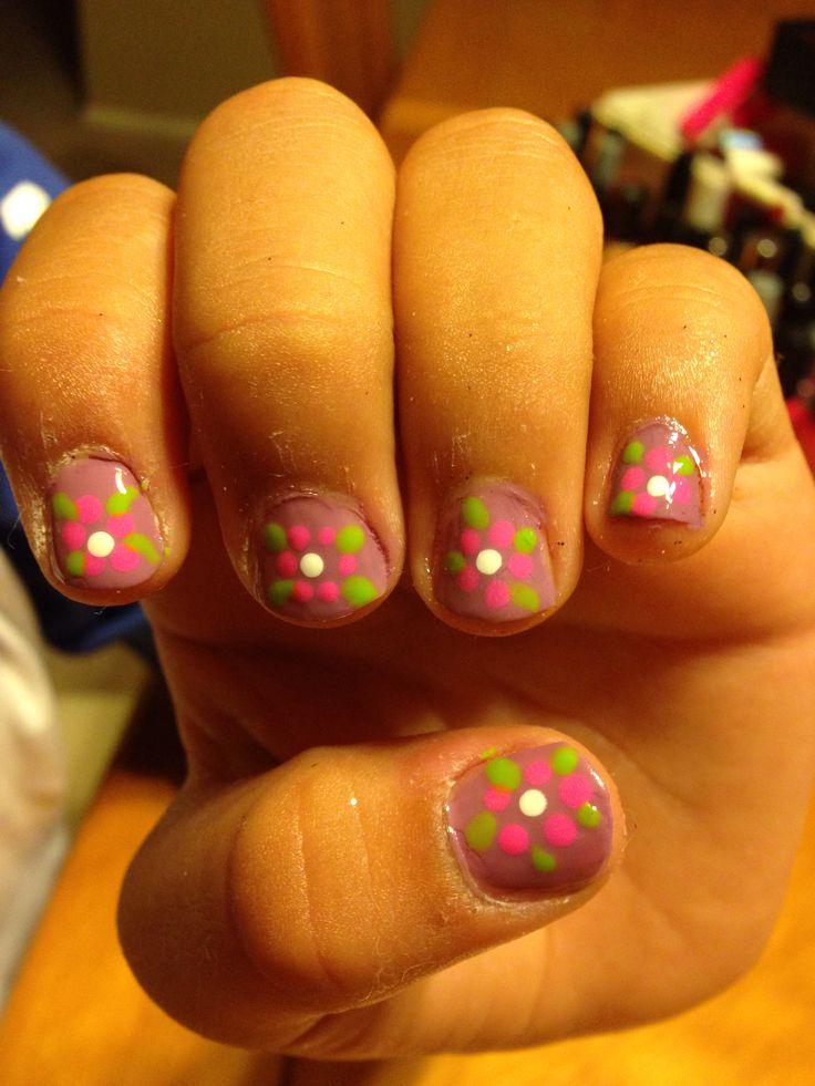 little girl nails spring time desiree pinterest