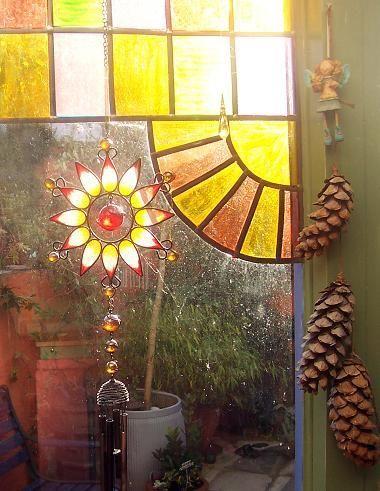 #bohemian.... leaded glass window ... light catcher...