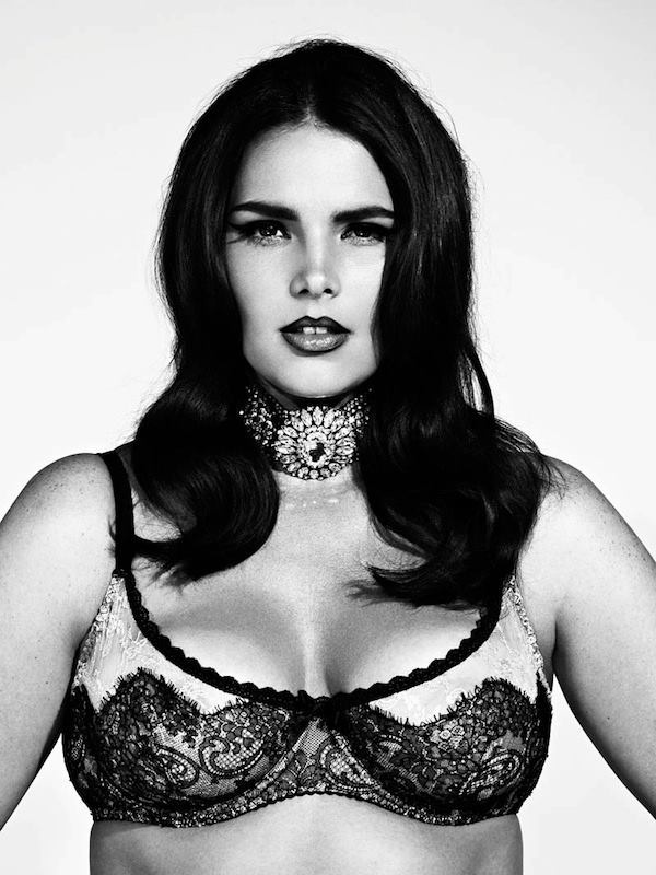 Plus size model Candice Huffine shot by Damon for S Moda