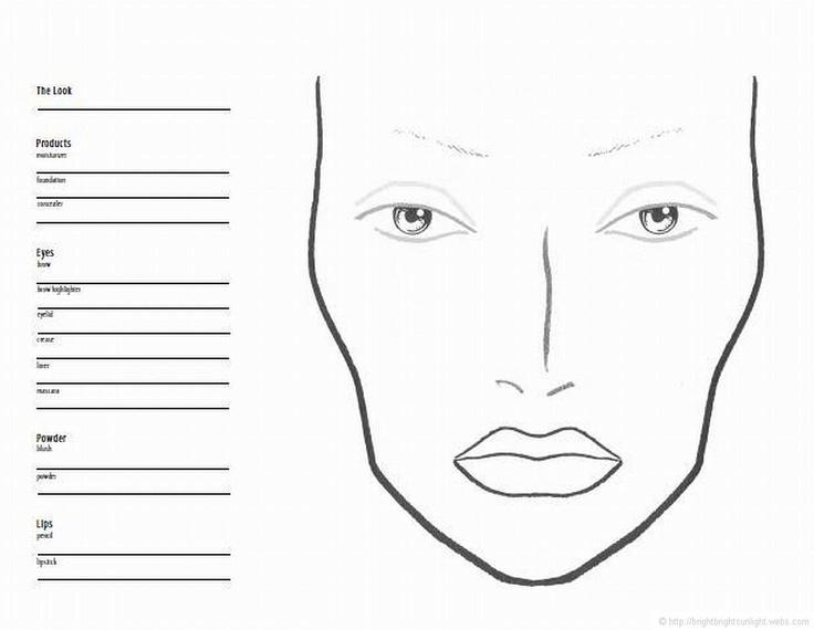 mac face chart face charts pinterest