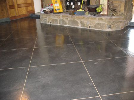 Stained concrete floor color dream home pinterest for Concrete floor stain colors