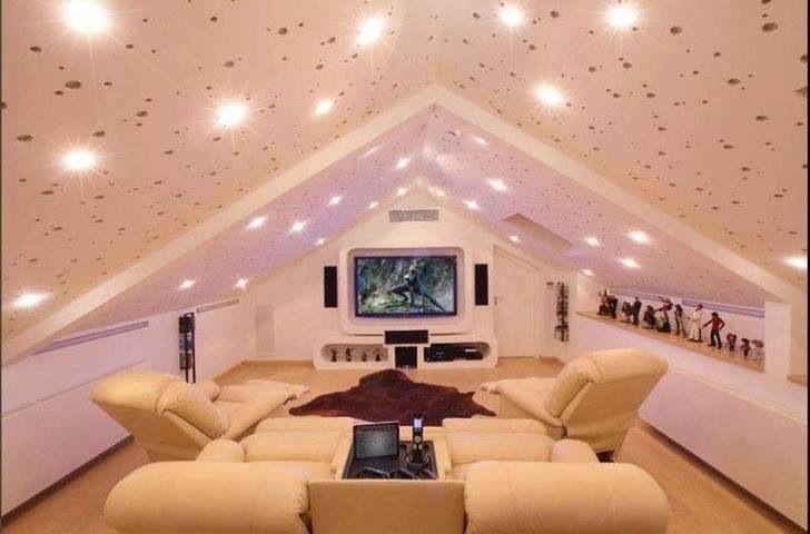 attic theater room home decor pinterest