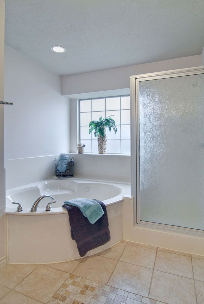 Garden tub in the master bathroom for the home pinterest for Master bathroom with corner tub