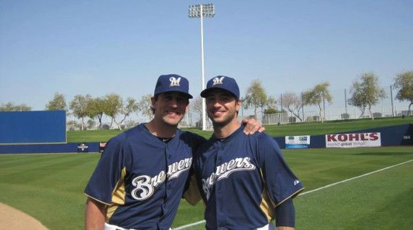 Aaron Rodgers and Ryan Braun