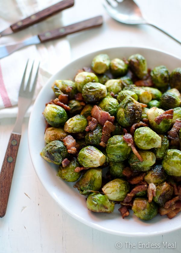 sprouts were also tossed in a small amount of vinegar before roasting ...
