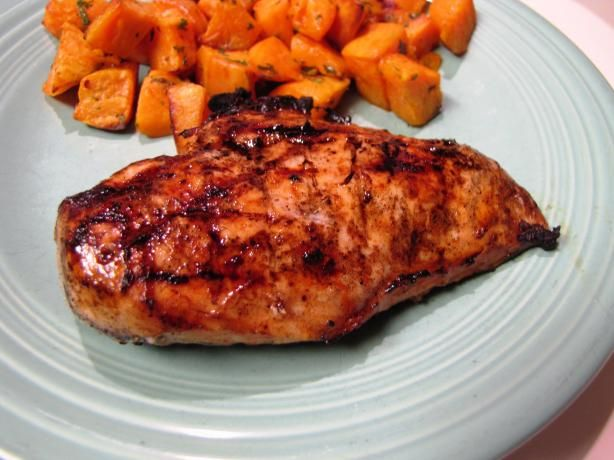 Grilled Chipotle Lime Chicken Breasts. Paired it with some fresh ...