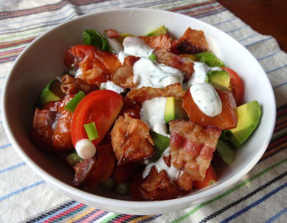 Smoked Salmon BLT Salad | food. | Pinterest