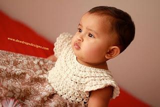 crochet bodice dress