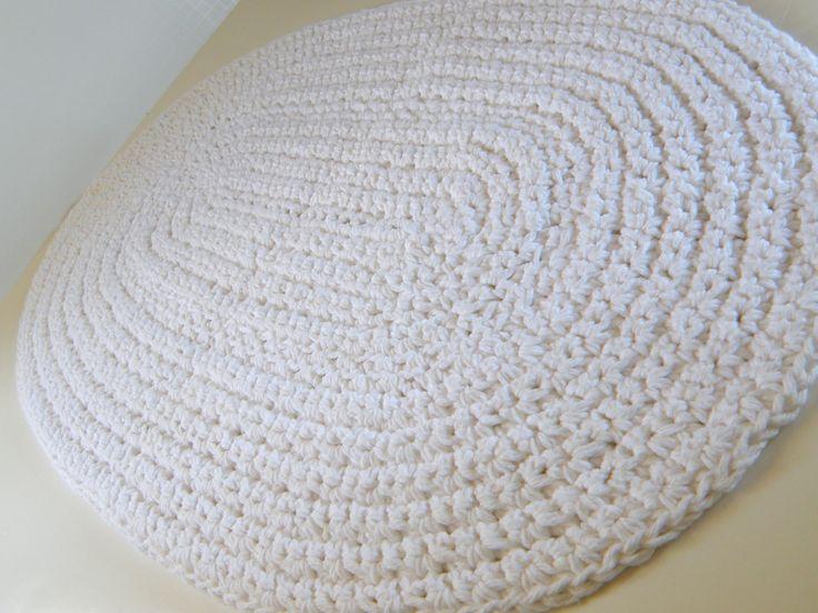 white bath rug white cotton bath mat crochet cotton