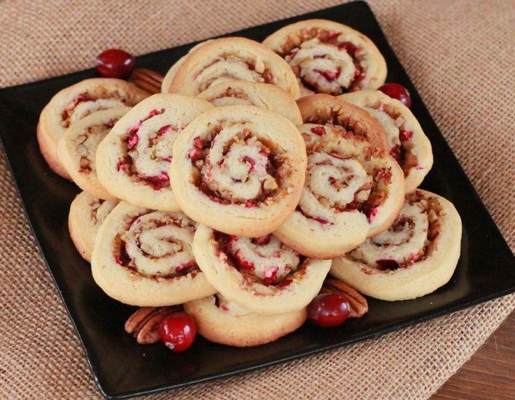 cranberry orange pinwheel cookies | Cookies | Pinterest
