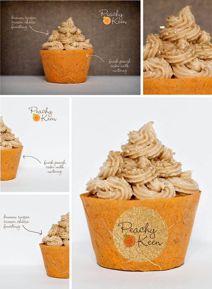 ... Cupcake with Brown Sugar Cream Cheese Frosting #fall #peach #cupcake