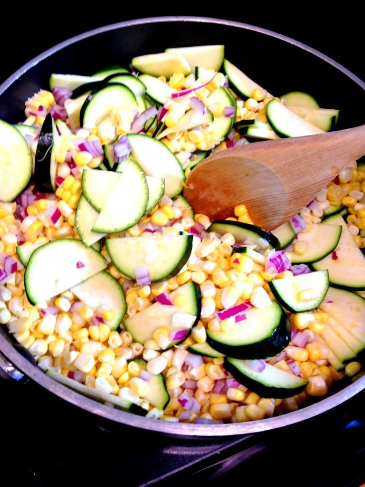 Charred Corn and Zucchini with Basil | Food | Pinterest