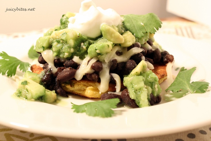 Cake Tostadas! Sweet and Savory Corn Cakes topped with black beans ...