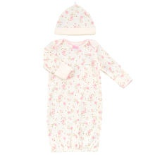 """Little Me Girls Vintage Rose Sleepy Gown - Marshmallow White & Pink (One Size) - Little Me Childrens Wear - Babies """"R"""" Us"""