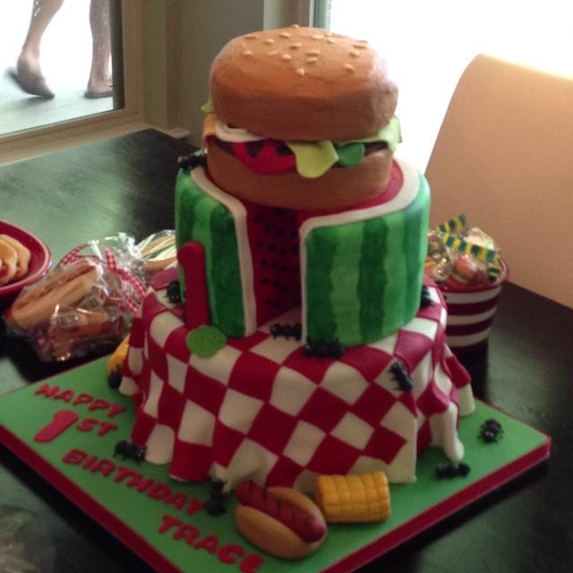 bbq birthday cakes