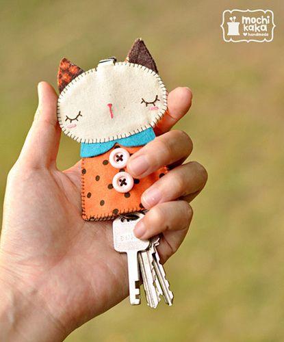 Брелок для ключей из ткани