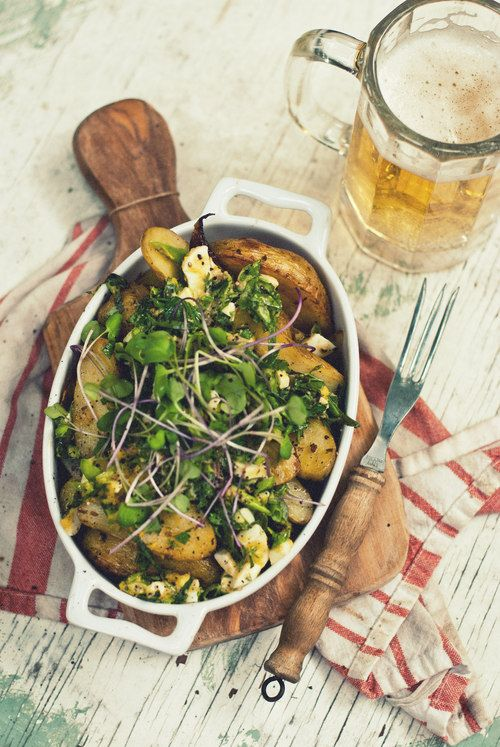 ... Onion & Fingerling Potato Salad with Chopped-Egg and Herb Dressing