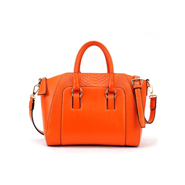 Brief Crocodile Orange Bag ($80) ❤ liked on Polyvore