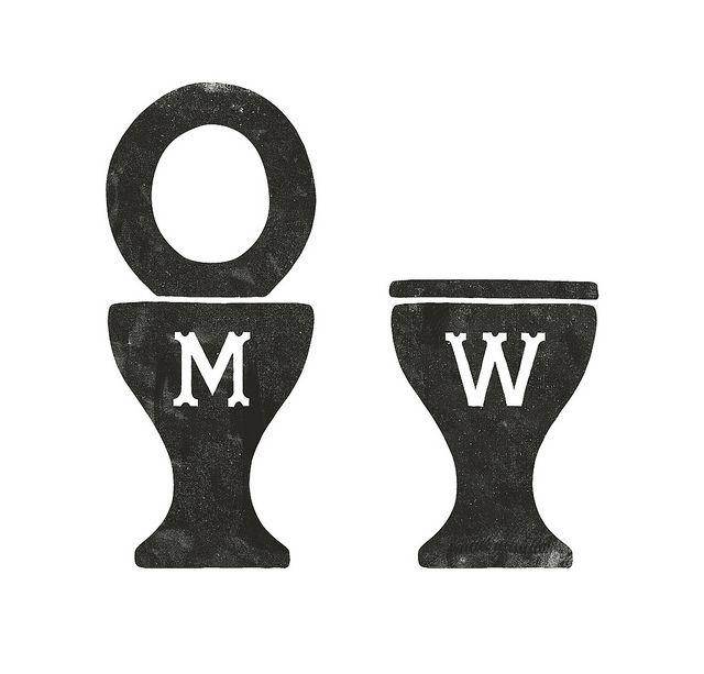 bathroom signs by simon walker