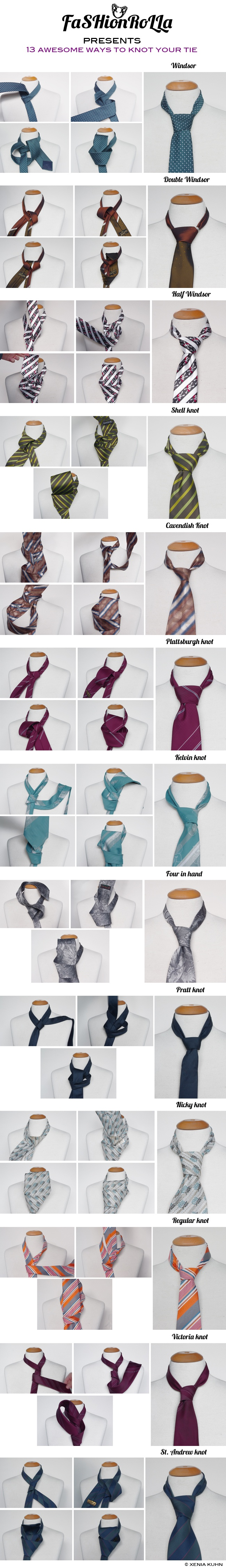 Tutorial: 13 awesome ways to knot your tie