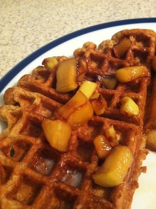 Apple Cider Waffles with Caramelized Apples | Recipe