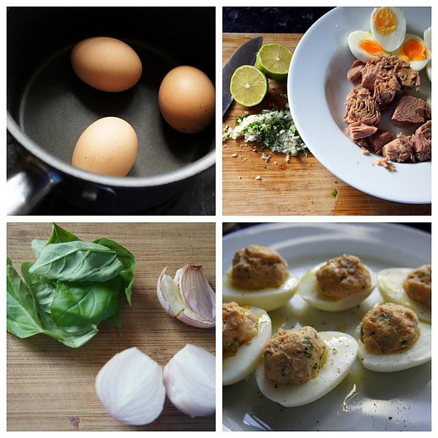 Tuna deviled eggs | Eggs | Pinterest
