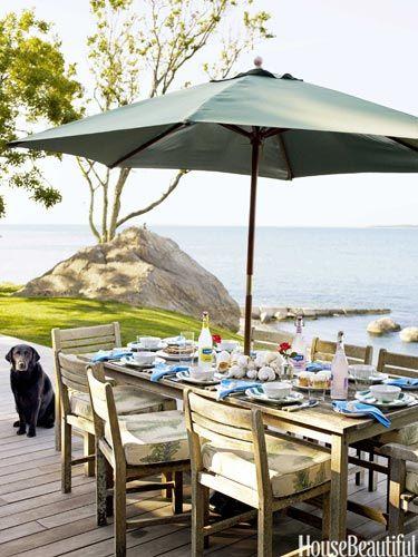 Ocean-front patio. Designed by Podge Bune.