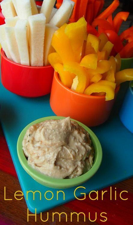 Lemon Garlic Hummus! | life | Pinterest