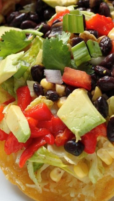 Mexican Chopped Tostada Salad | Salads & Dressings | Pinterest