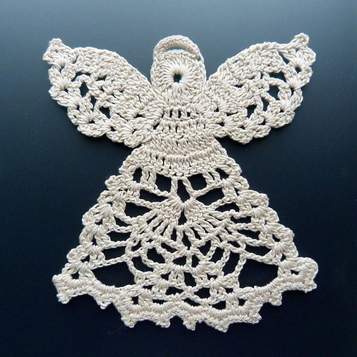 Crochet Angel : Crocheted Doily - Angel in Lace. thread crochet Pinterest