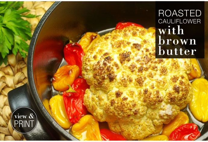 RECIPE: Roasted Cauliflower with Brown Butter #KWCook