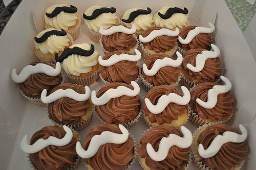 Stache Cupcakes