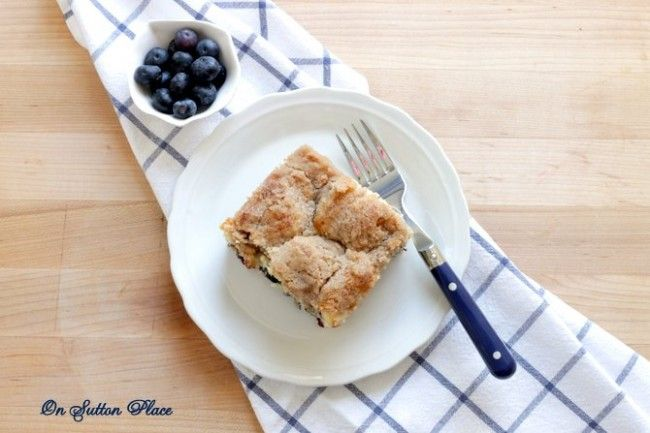 Fresh Blueberry Coffee cake - Debbiedoo's Use coconut oil instead of ...