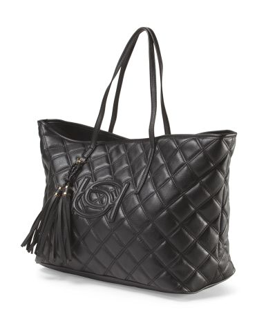 Quilted Tote Lisa Quilted To...