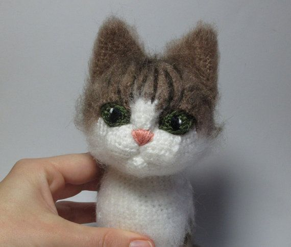 Grey Cat - pdf crochet toy pattern - NEW